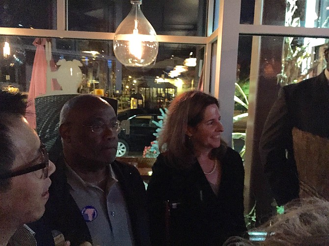 Bill Euille and Allison Silberberg at the Alexandria Democratic victory party.