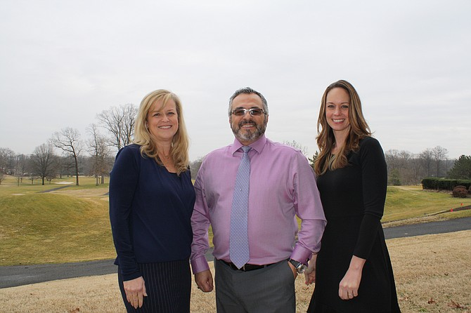 The Springfield Country Club team of Bassam Medawar, GM, middle and Dawn Siebenhaar, left, and Jennifer Kazmi have their finger on the pulse of the interior renovation at the clubhouse.