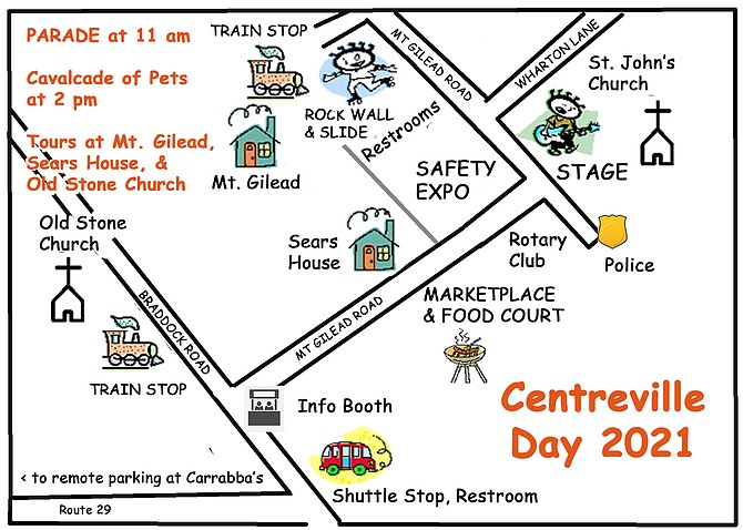 Bands and food will be part of this year's Centreville Day.