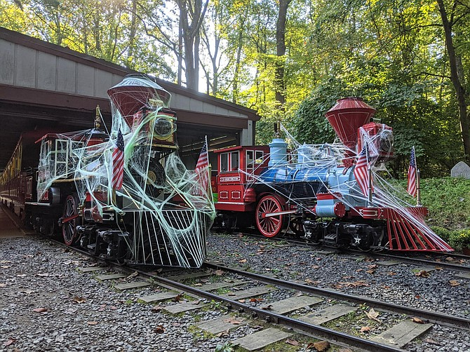 Spooky train parked at station