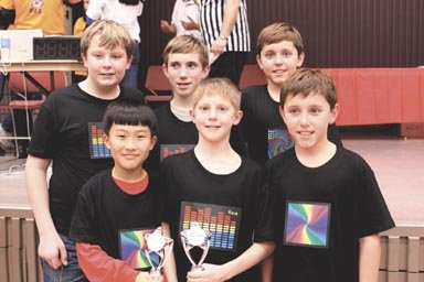The Master Minds Team includes Cooper Middle School eighth graders Brandon Arcari and Steven Corcoran and Spring Hill Elementary School sixth graders Brad Kim, David Corcoran, Michael Arcari and Thomas Corcoran.