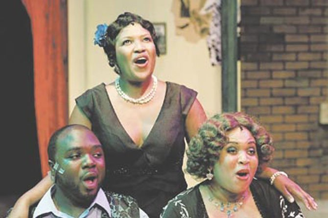 "Chris Prince, Rikki Howie and Michelle Harmon in the ESP production of ""Ain't Misbehavin.'"" The show garnered 11 WATCH Award nominations during the Jan. 16 announcement at The Birchmere."