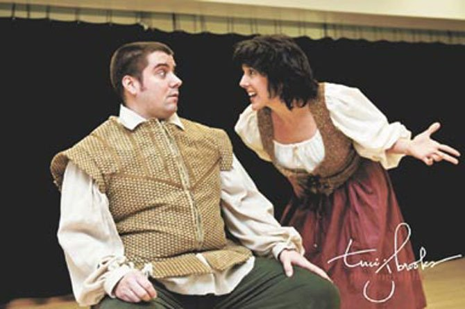 "Nathan Tatro and Janice Rivera in the McLean Community Players' production of the ""Man of La Mancha."""