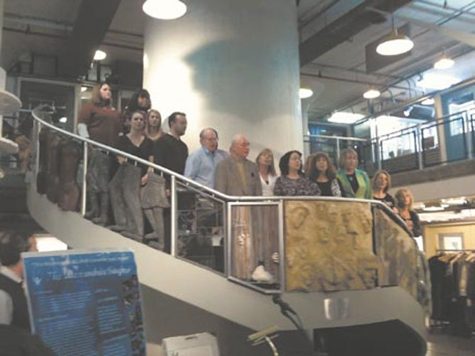The Alexandria Singers serenaded Chinese guests during a Jan. 13 reception at the Torpedo Factory