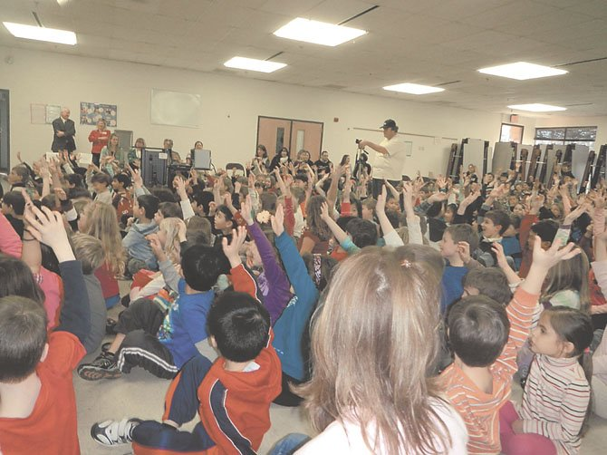 "Nearly every student raised their hand when Paquin asked if they had seen ""Dolphin Tale."""