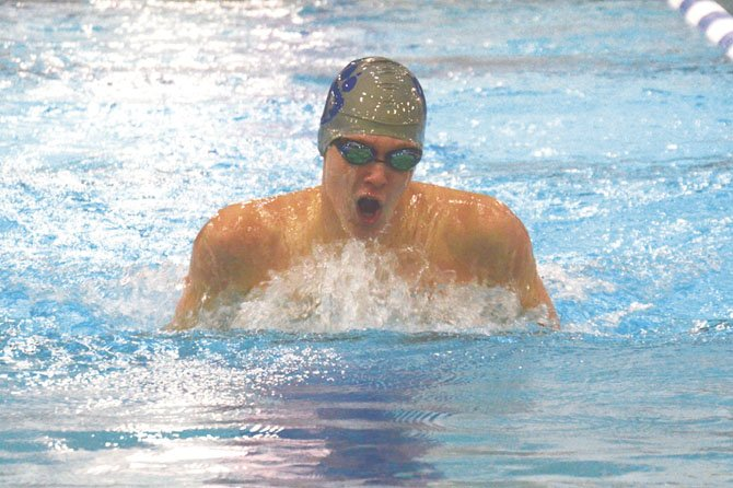 West Potomac's Trevor Jenne competes in the 200Y IM.