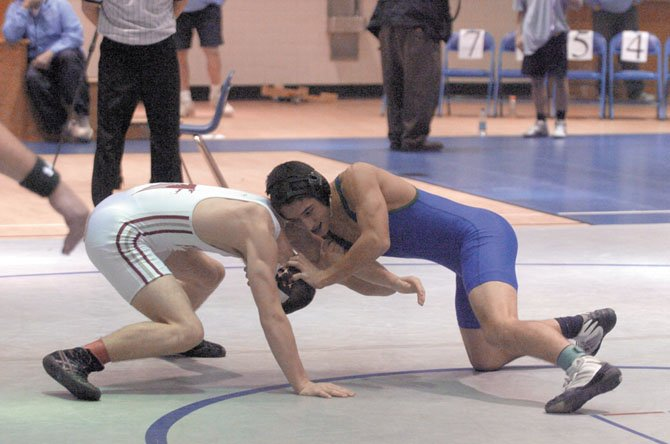 South Lakes wrestler Ryan Forrest (right) is hoping to make a run at Liberty District and Northern Region crowns over the next two weeks.