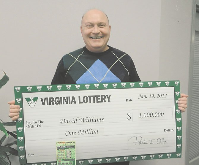 David Williams of Alexandria bought and scratched a Casino Royale ticket from the Virginia Lottery.
