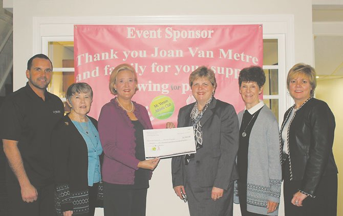 Mount Vernon Athletic Club presented both The Breast Care Institute at INOVA Mount Vernon Hospital and INOVA Alexandria Hospital with checks for $6,900 each on Jan. 17.