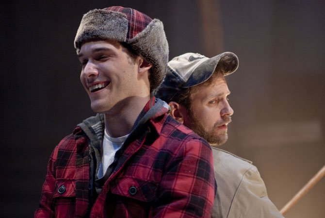 Elliott Kashner and Jonathan Lee Taylor in the 1st Stage production of 'Almost, Maine.'