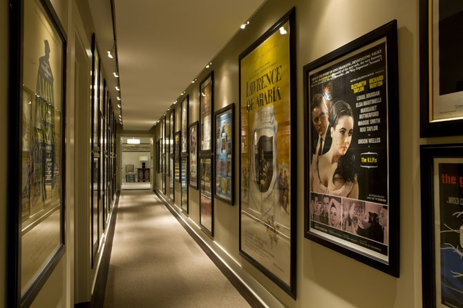 In this BOWA project in Great Falls, a gallery was designed to display the owner's extensive motion picture poster collection.