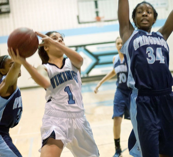 Whitman junior Kim Durante scored 14 points against Springbrook on Feb. 3.