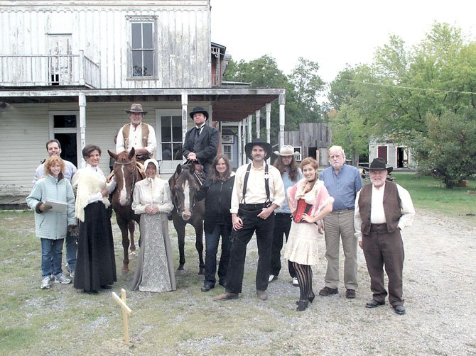 "The cast and crew of ""Thurston"" on set in Wytheville, Va. Screenwriter Kathryn O'Sullivan, and Director Paul Awad are to the left. ""Thurston"" has recently been nominated to an award for best original web series."