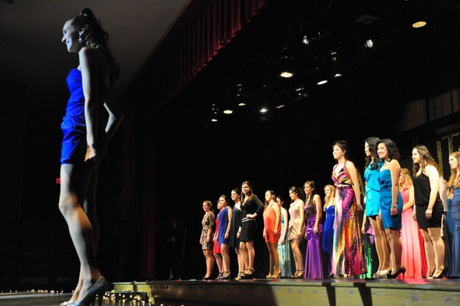 Students walk the runway during the annual Langley High School Fashion Show Saturday, Feb. 11. 