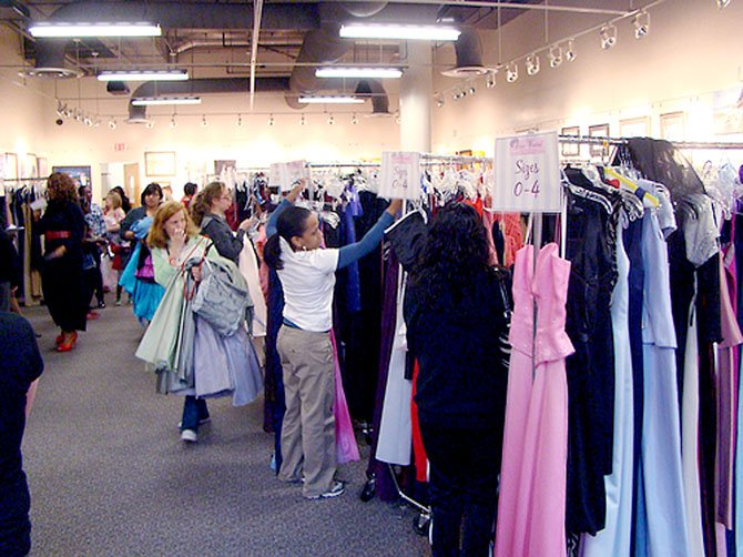 Last year's Diva Central dress drive at Reston Community Center, which provides local teenage girls with donated, gently used formal dresses. This year's drive is going on until Feb. 25.
