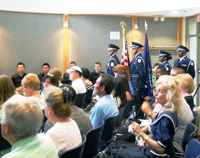 The first ceremony was held at Braddock Hall last June, 2011. U.S. Rep. Gerry Connolly's office helped organize the ceremony along with Braddock Supervisor John Cook and Our Community Salutes, a nonprofit created in 2009 to recognize and honor high school seniors who plan to enlist in the military immediately after high school graduation.