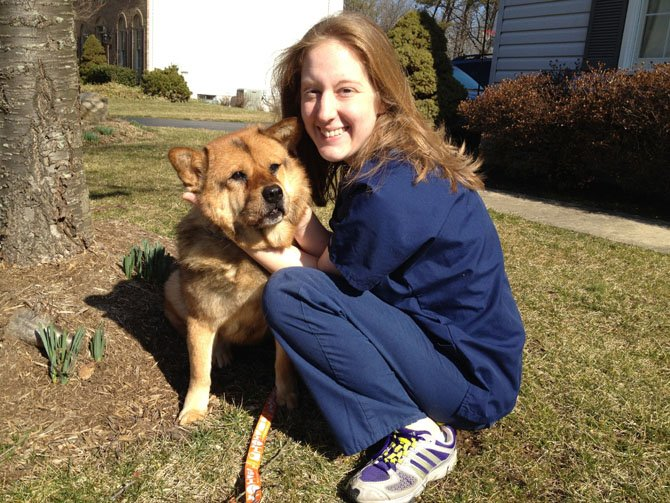 Kierianne Knollman with friend and confidante, Macy. 