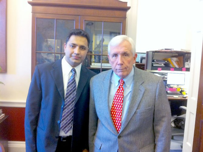 Sharma's interview with Rep. Frank Wolf (R-VA) will air in the next few weeks. In November, Wolf threatened to cut off aid to Nepal unless the country permitted refugees fleeing Chinese rule in Tibet to transit through Nepal.