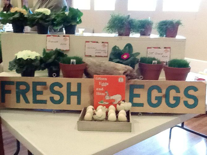 Farm fresh eggs from Fossil Rock Farms at the indoor winter farmers market at Frying Pan Farm. The market is held Thursdays from Feb. 23 to April 26 from 2:30 to 6:30 p.m.