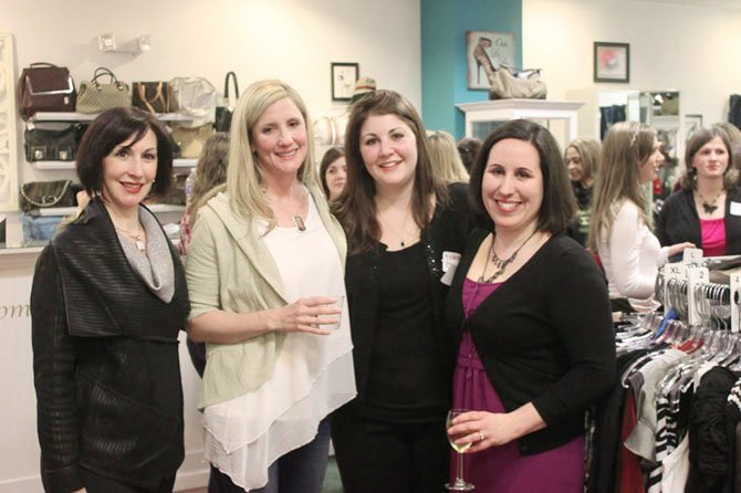 From the left, Christina Crawford of Chic Envy, Denise Stern of Mission Sleep, and NOVALive organizers Andrea Khoury and Micaela Williamson collaborated to raise money for a worthy cause.