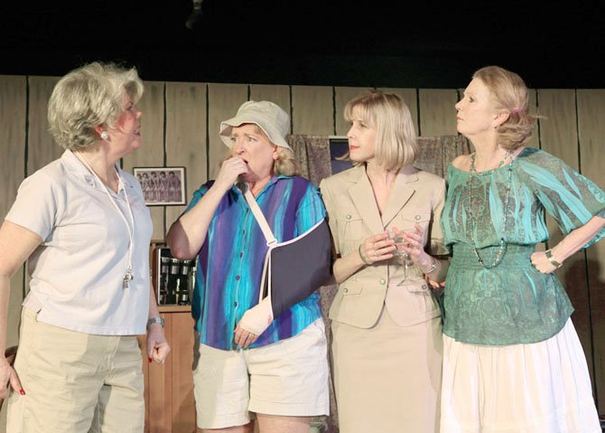 Tina Anderson as Sheree Hollinger, Gayle Grimes as Vernadette Simms, Kacie Greenwood as Dinah Grayson and Barbara Hayes as Lexie Richards.