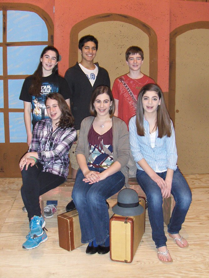 "Some of the leads of Franklin's ""Thoroughly Modern Mille"" are (back row, from left) Kayla Blatman, Mohammad Khan and Ryan Davis and (front row, from left) Elizabeth Malone, Megan Griggs and Sarah Woolf."