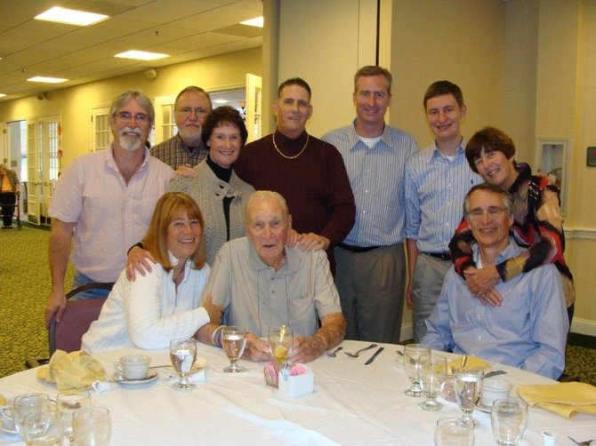 Larry Schuster Sr. with his family on Oct. 31, 2010. He is survived by his four children: Sharon Bulova, Marmie Schuster-Walker, Georgeanne Koss, and Larry Schuster Jr., six grandchildren and six great grandchildren.
