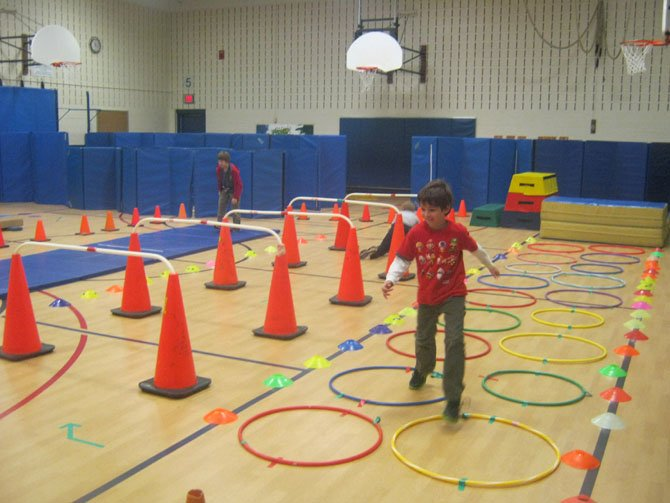 Armstrong Elementary obstacle course.