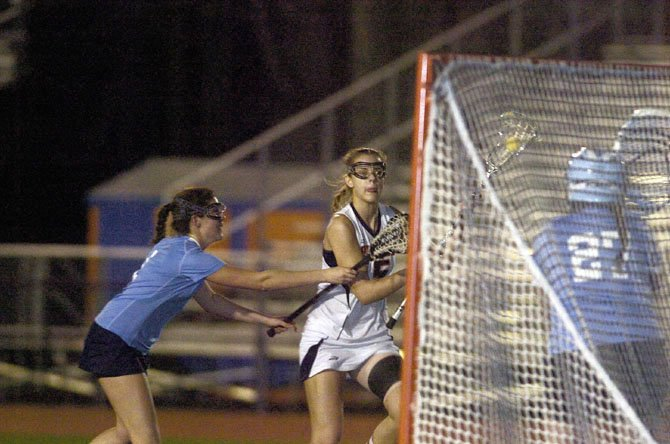 Junior attack Lindsey Mares scored four goals for West Springfield during the Spartans' 12-10 victory against Yorktown on March 12.
