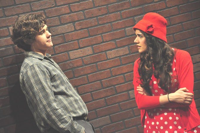 "Eddie Carbone (played by Damian Leverett) argues with his niece Catherine (played by Lexie Shoaibi) during ""A View From a Bridge,"" which will be presented at McLean High School starting March 21."