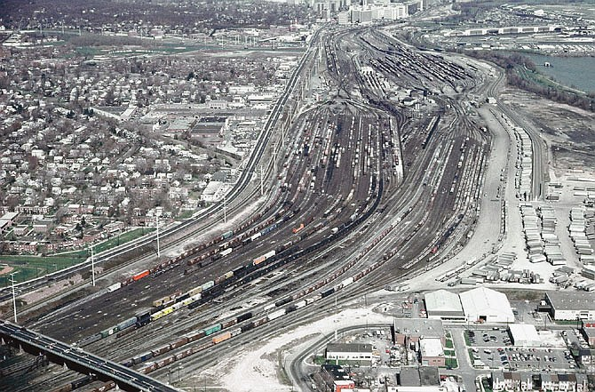 Photograph of the Potomac Yard about 1972.