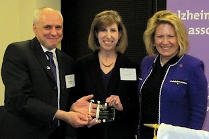 Tim Belanger, Ilissa Belanger and Susan Kudla Finn, President and CEO, Alzheimer's Association National Capital Area Chapter