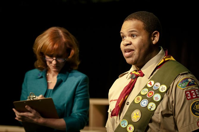 "Harrison G. Lee and Mary Payne on ""The 25th Annual Putnam County Spelling Bee"" presented by The Workhouse Theatre."