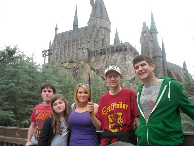 (From left) are Mac, Shea, Sam, Ryan and Liam Dillon, in November 2011, when their family visited The Wizarding World of Harry Potter at Universal Studios in Orlando.