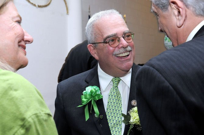 Congressman Gerry Connolly greets friends.