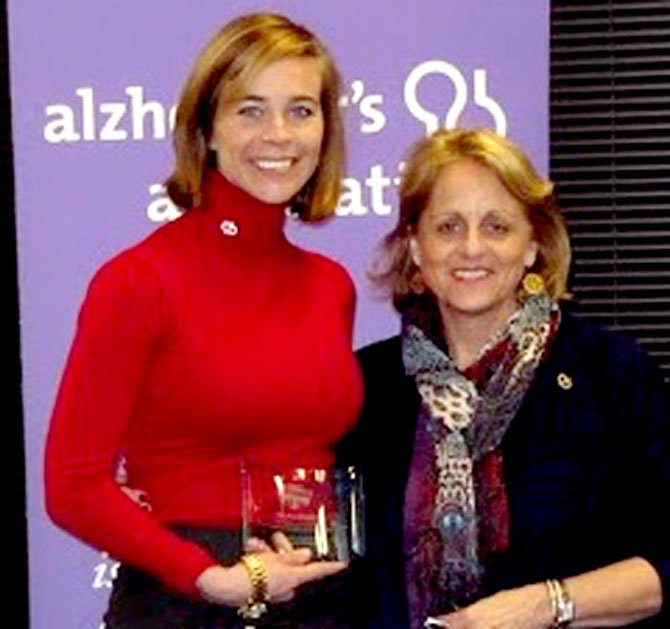 Keri Ann Meslar and Susan Cherney, vice president of development, Alzheimer's Association National Capital Area Chapter.