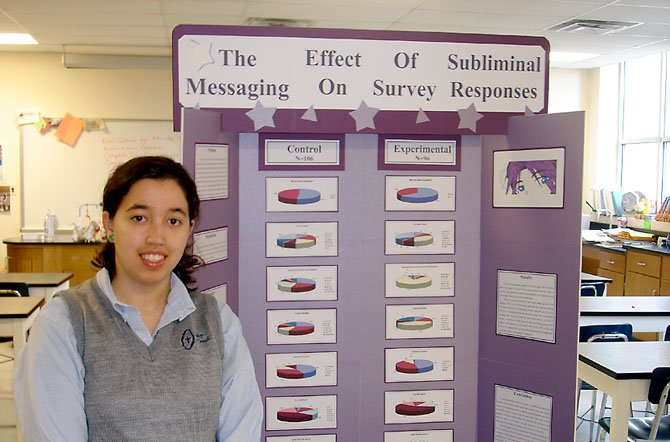Sofia DiBenigno advances to the Virginia State Science and Engineering Fair.