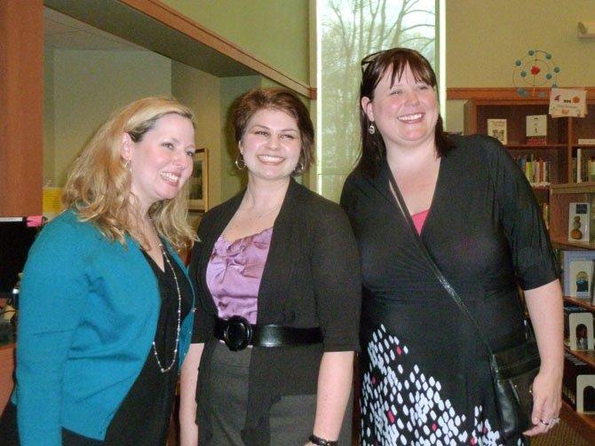 Author Ally Carter, Holy Child librarian Sarah Stonesifer and author Rachel Hawkins.