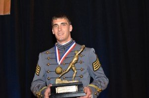 Andrew Rodriguez, a 2008 graduate of Bishop Ireton High School, was presented the 2011 James E. Sullivan Award March 20 in New York City.