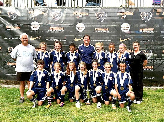 SYC Storm White won its second big tournament title over a four-week period with their championship showing at the prestigious Jefferson Cup, held March 18 in Richmond.