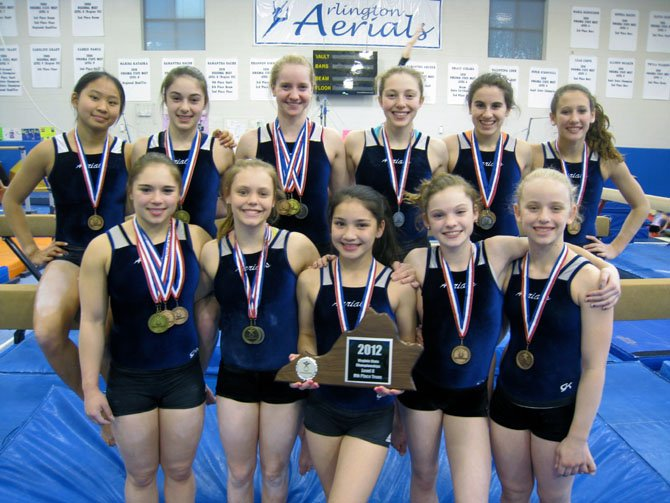Arlington Aerials gymnastics team won 24 individual event medals and nine all-around medals at the Level 8-9 State Gymnastics Championships in Richmond.