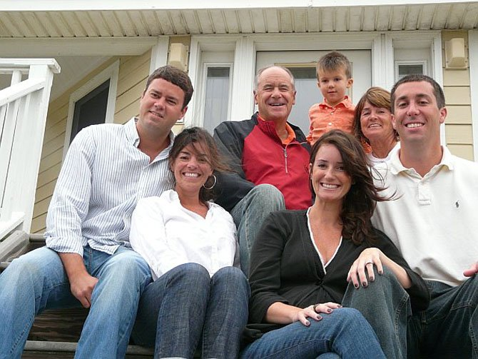 The Timko family last year at North Carolinas Outer Banks. Back row, from left, are David and Missi Timko with grandson Dominic DeSarno between them. Front row, from left, are their daughters and son-in-laws, Matt and Emily McGlon and Lauren and Nick DeSarno. (Not pictured, Lila DeSarno).