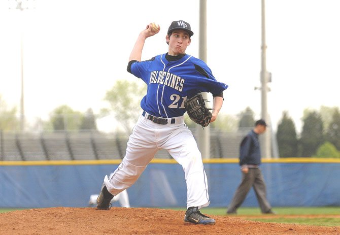 West Potomac senior Josh Belanger threw a five-inning no-hitter against Falls Church on March 31.