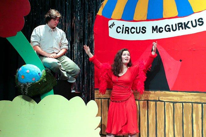 Horton the Elephant and Mazie La Bird: Ryan Walker and Rachelle Husband.