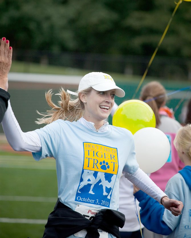 "Holy Child ""Tiger Trot"" Alum Jessi Frend participates in last year's event. This year's run starts at 8 a.m. on April 15."