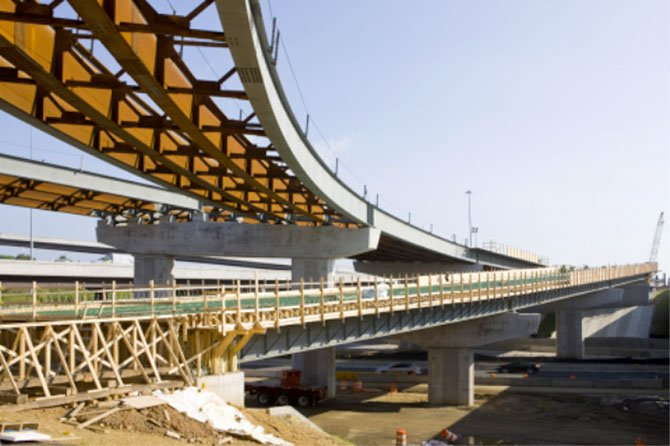 New bridge piers are under development to support completion of project construction in the Springfield Interchange and provide a seamless connection between HOV service on I-95/I-395 to the 495 Express Lanes.