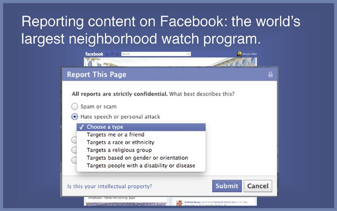 From 'Facebook 101' presentation