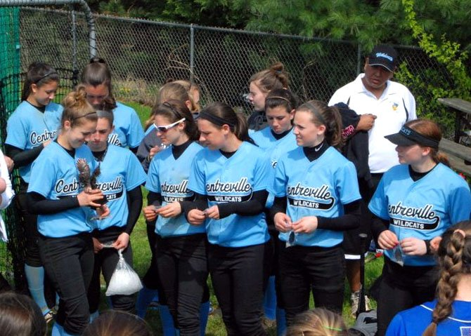 The Centreville High girls' softball team was awarded the second place team trophy during informal ceremonies following the Wildcats' finals game at the Madison High Spring Break Tournament.
