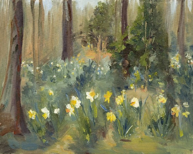 """Betty's Daffodils,"" an oil painting by Great Falls artist Karen Bateman, is typical of the art available at the Great Falls Studios Spring Art Festival being held April 21-22 at the Village Green Day School."