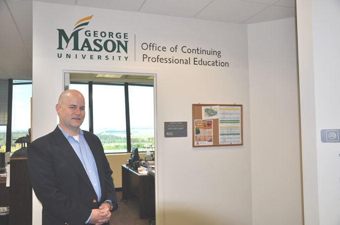 Steve Mullins at the Center for Innovative Technology building in Herndon where George Mason University has offices and classrooms.